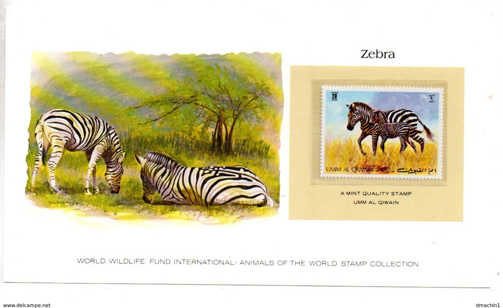 Animals Of The Worl Stamp Collection - Zebra -Al Qiwain-voir état - Stamps