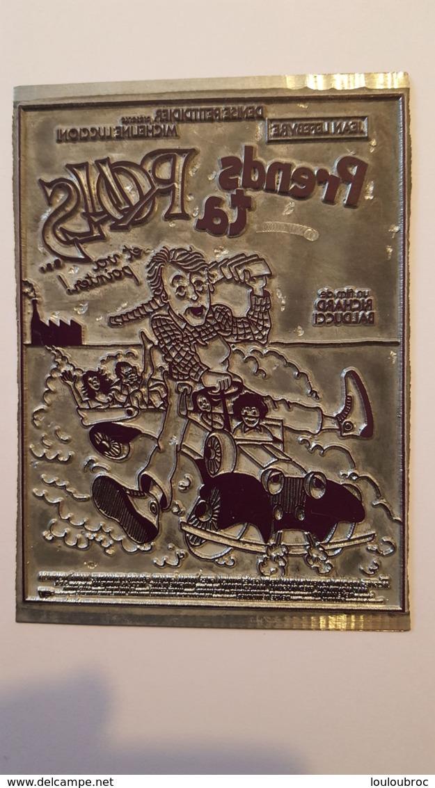 PLAQUE METAL PUBLICITAIRE FILM  PRENDS TA ROLLS ET VA POINTER 1981 - Plaques Publicitaires