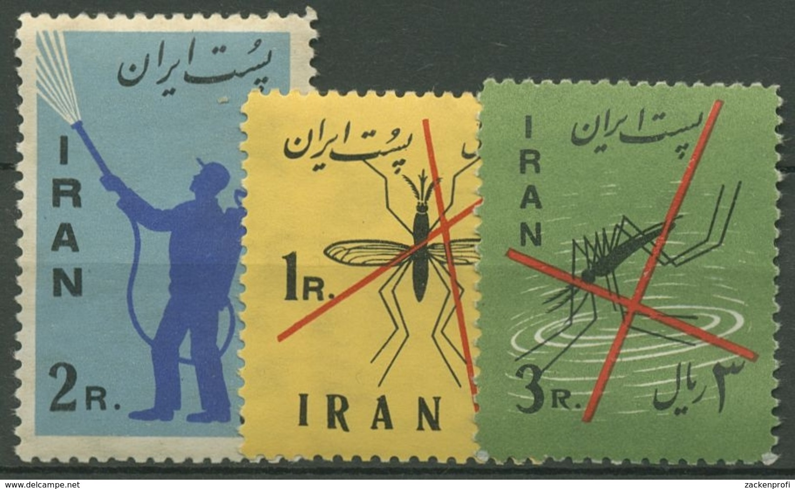 Iran 1960 Kampf Gegen Die Malaria 1077/79 Postfrisch - Iran
