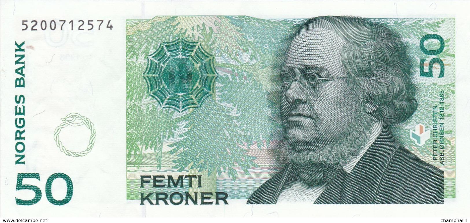 Norvège - Billet De 50 Kroner - 1996 - Peter Christen Asbjornsen - Norvegia