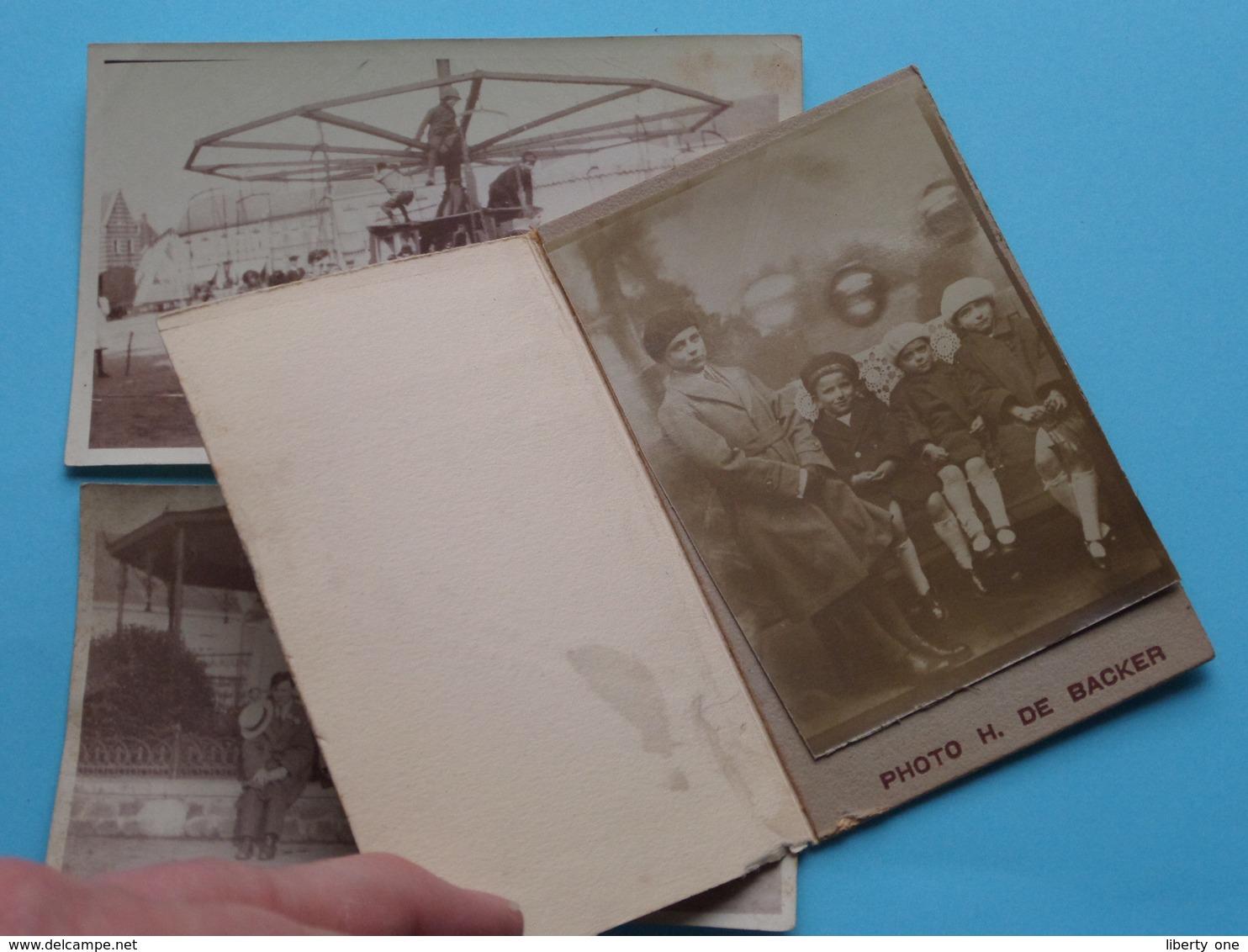 Souvenir De La FOIRE > Gedenkenis Der KERMIS CDV The AMERICAN PHOTO H. De BACKER + 2 Foto ( Form. +/- 7 X 11 Cm. ) ! - Altri