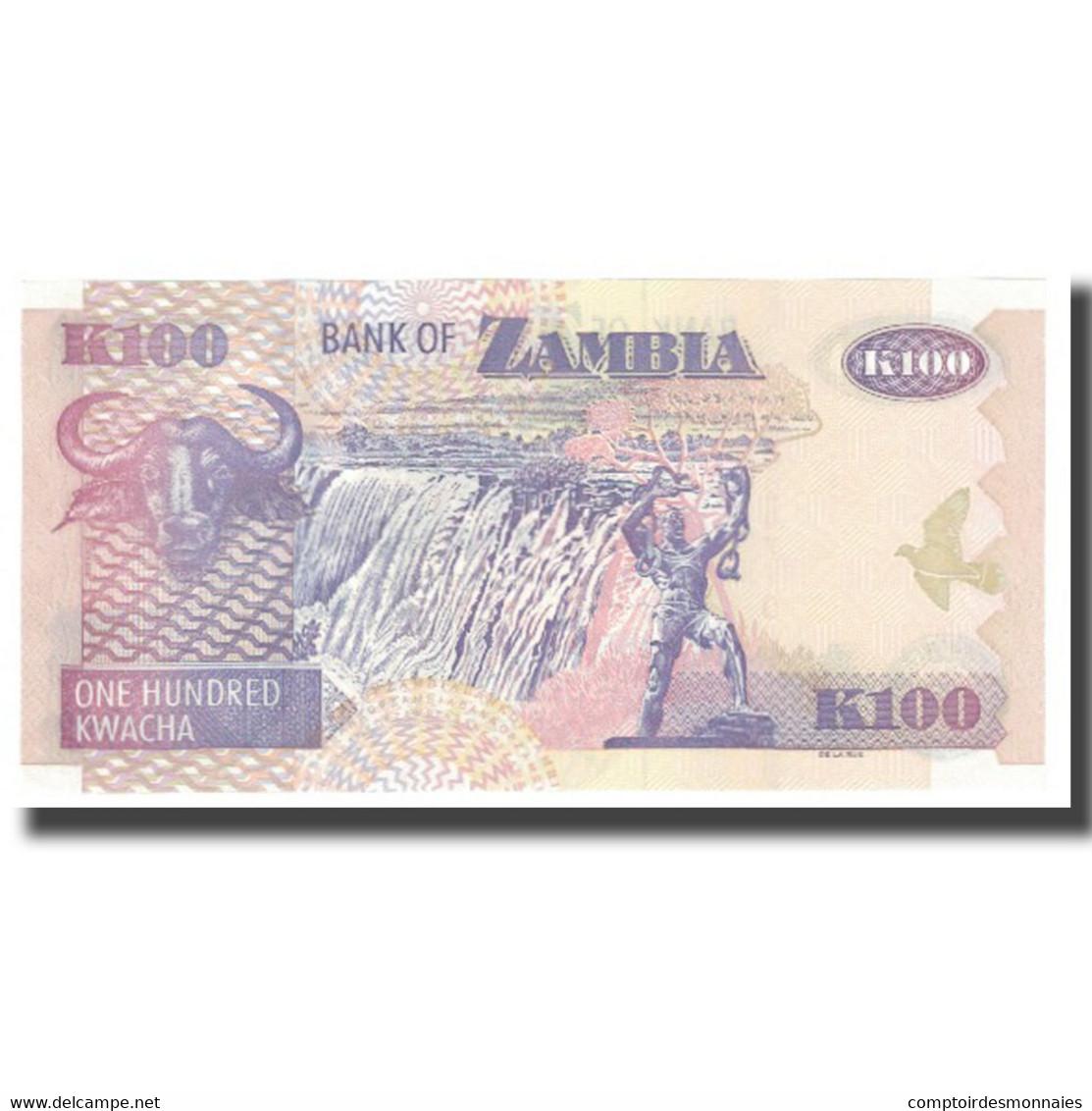 Billet, Zambie, 100 Kwacha, KM:38g, NEUF - Zambie