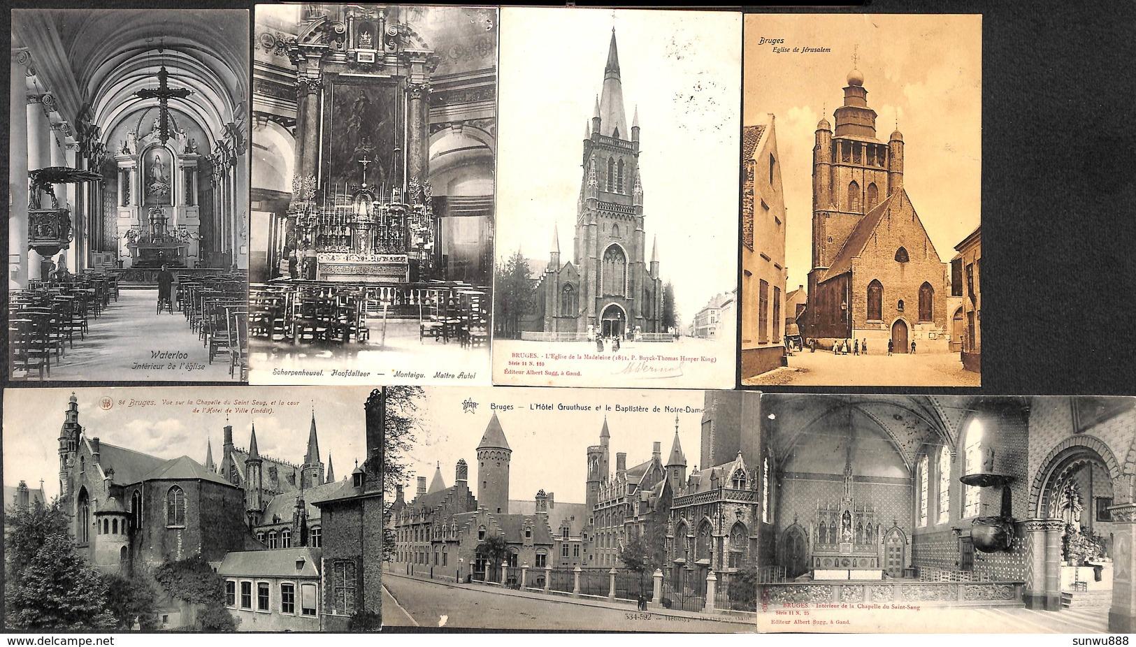 Bruges Brugge - Lot Of 17 PK's (Kerk Dr Trenkler... Te Zien) - Brugge