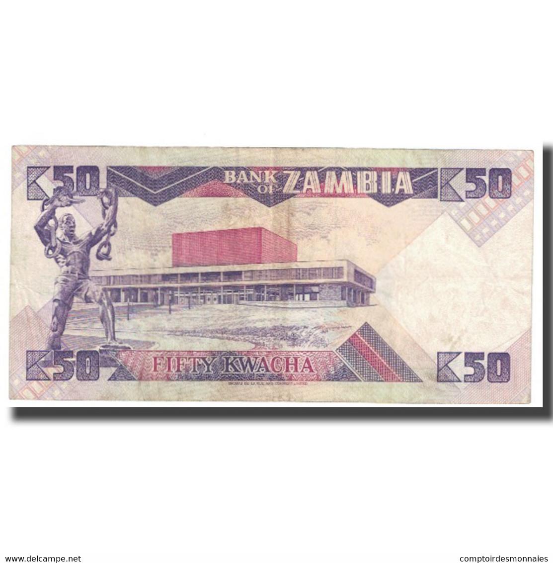 Billet, Zambie, 50 Kwacha, KM:28a, TB - Zambie