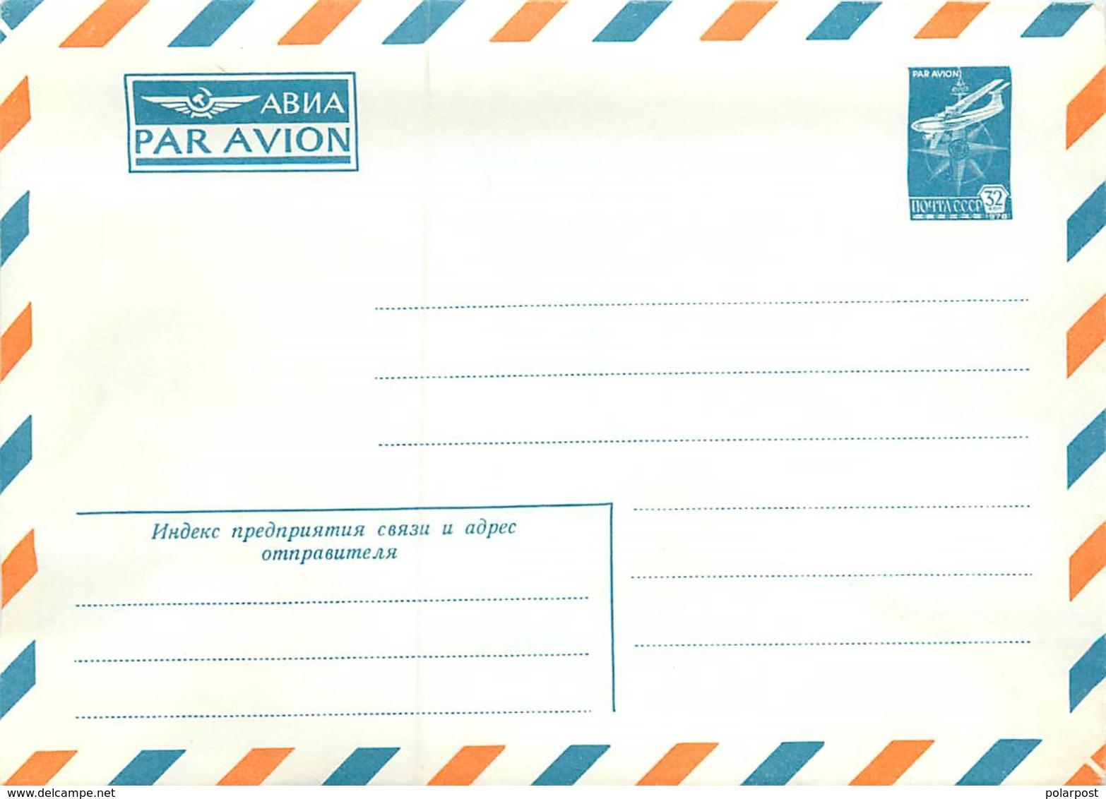 USSR 1980 AVIA PAR AVI ON IL-76 Aircraft - Polar Flights