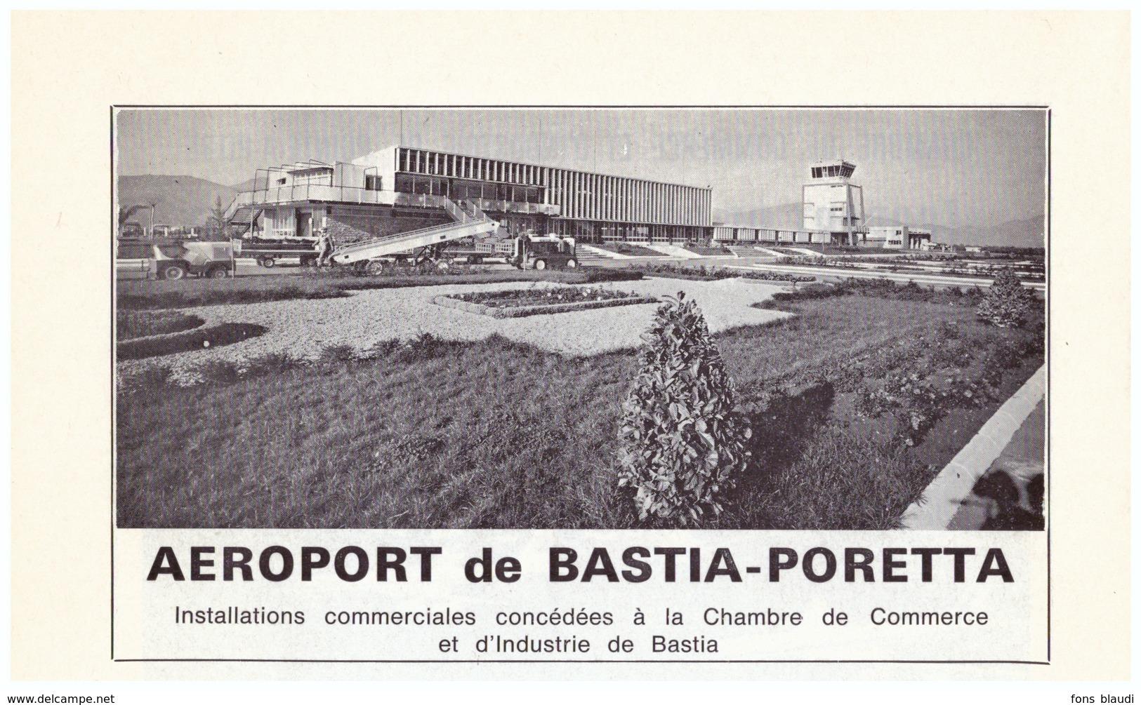 1970 - Iconographie - Bastia (Corse) - L'aéroport Poretta - FRANCO DE PORT - Vieux Papiers