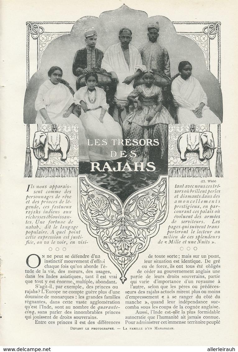 Les Trésors Des Rajahs /  Article , Pris D`un Magazine / 1909 - Bücher, Zeitschriften, Comics