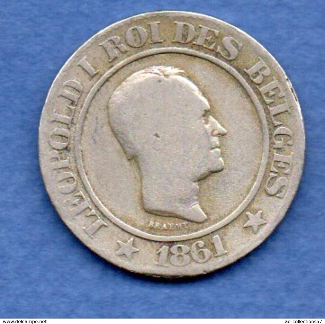 Belgique- 20 Centimes 1861   -  Km # 20  -  état  TB - 05. 20 Centimes