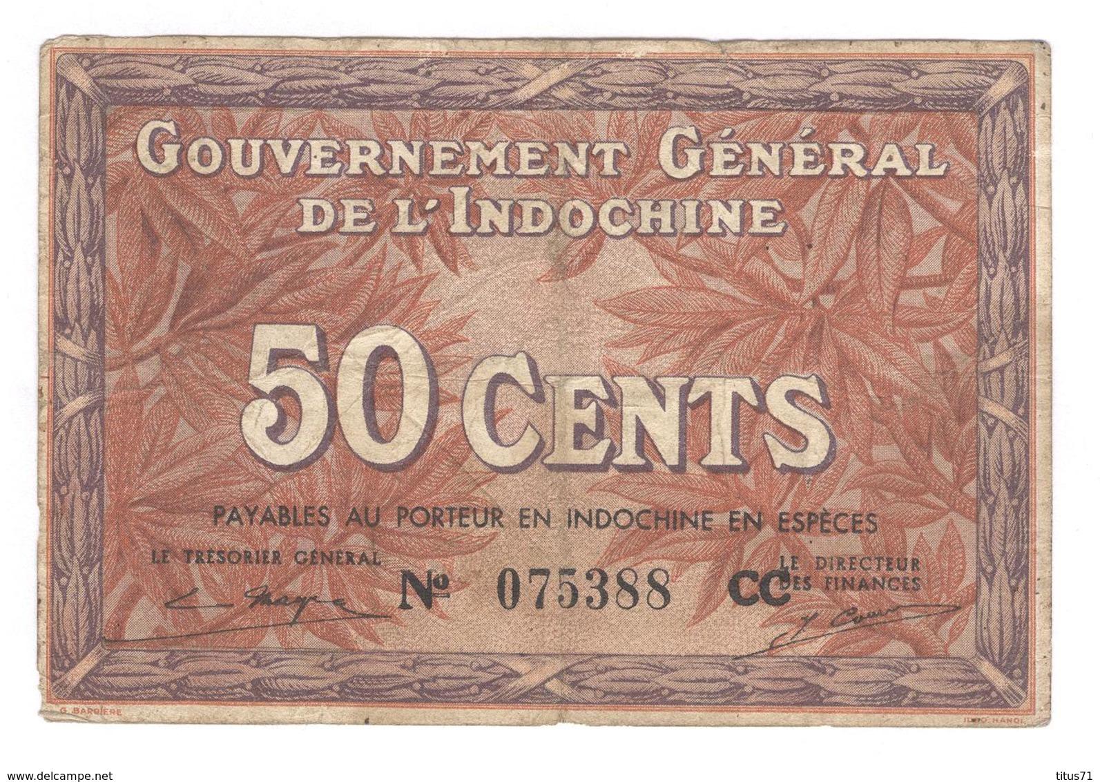 Billet 20 Centimes Gouvernement Général De L'Indochine - Bon état - France