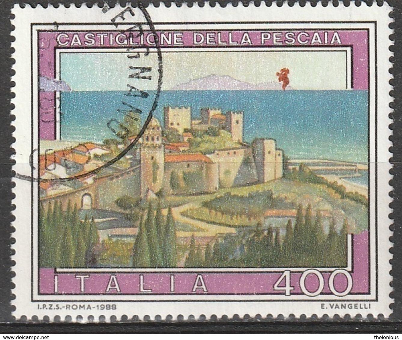 Italia 1988 - Lire 400 - Castiglione Della Pescaia - 1981-90: Usati
