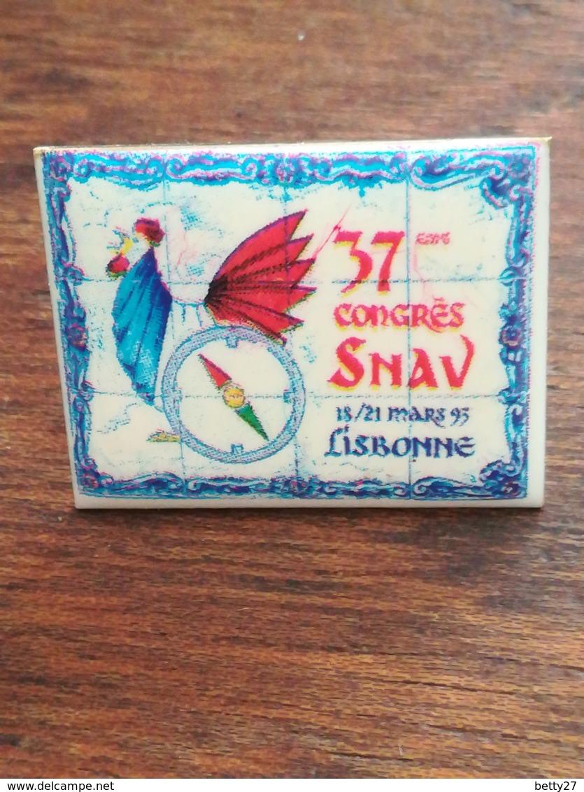 Pin' S  37 ème Congrès SNAV Lisbonne COQ 60 - Ohne Zuordnung