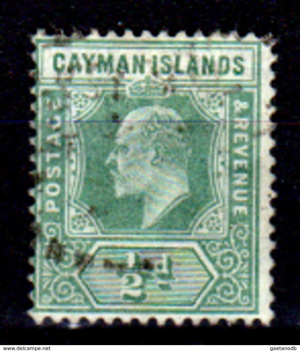 Cayman-038 - Emissione 1908 (o)  - Senza Difetti Occulti. - Cayman (Isole)