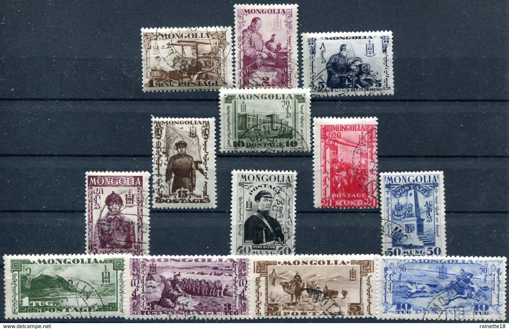 Mongolie     N° 42/54  Oblitérés - Mongolie