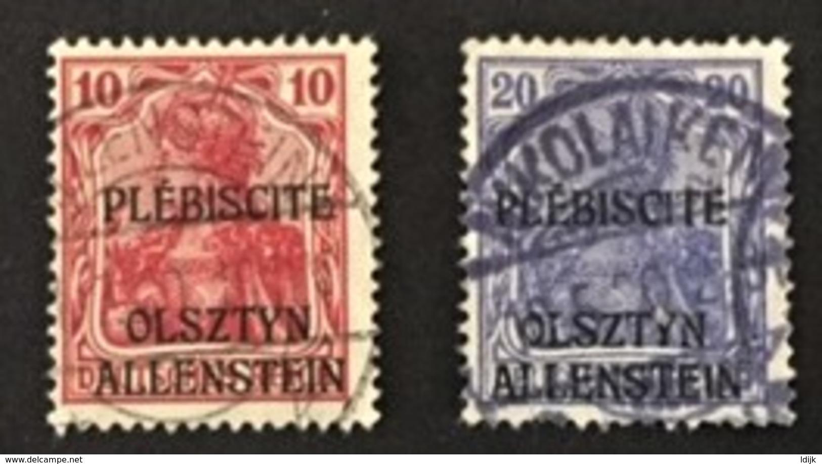 1920 Allenstein Freimarken Mit Schwarzem Aufdruck Mi. 2, 5 - Germany