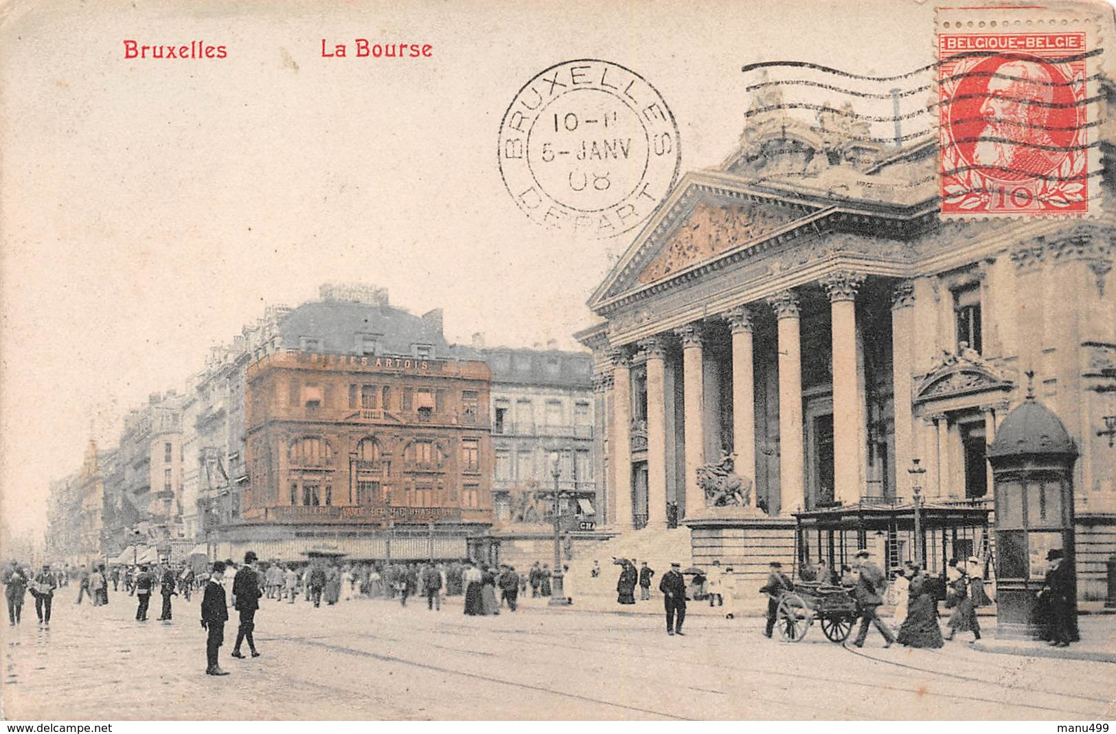 Bruxelles - La Bourse En 1908 - Monumenti, Edifici