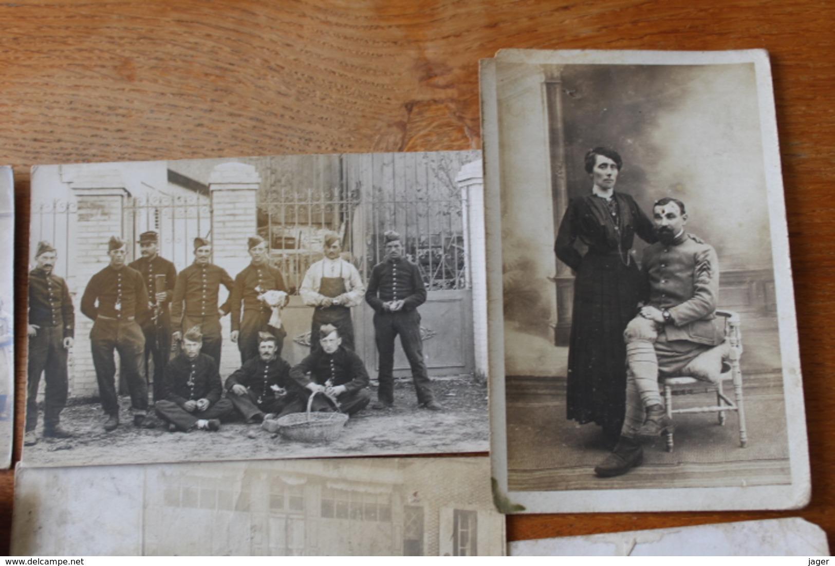10 Cartes Photos WWI Guerre 1914 1918 Poilus   Lot 1 - Guerra, Militares