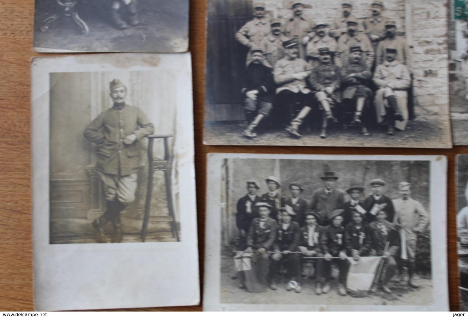 10 Cartes Photos WWI Guerre 1914 1918 Poilus   Lot 2 - Guerra, Militares