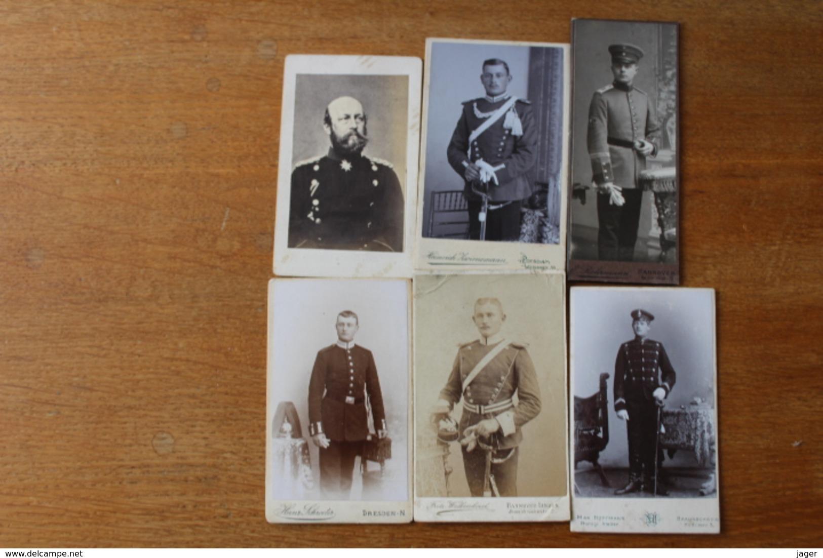 6 Cdv Troupes Alleamndes Casques A Pointes Shapska  Uhlan, Hussard De La Mort - Guerra, Militares