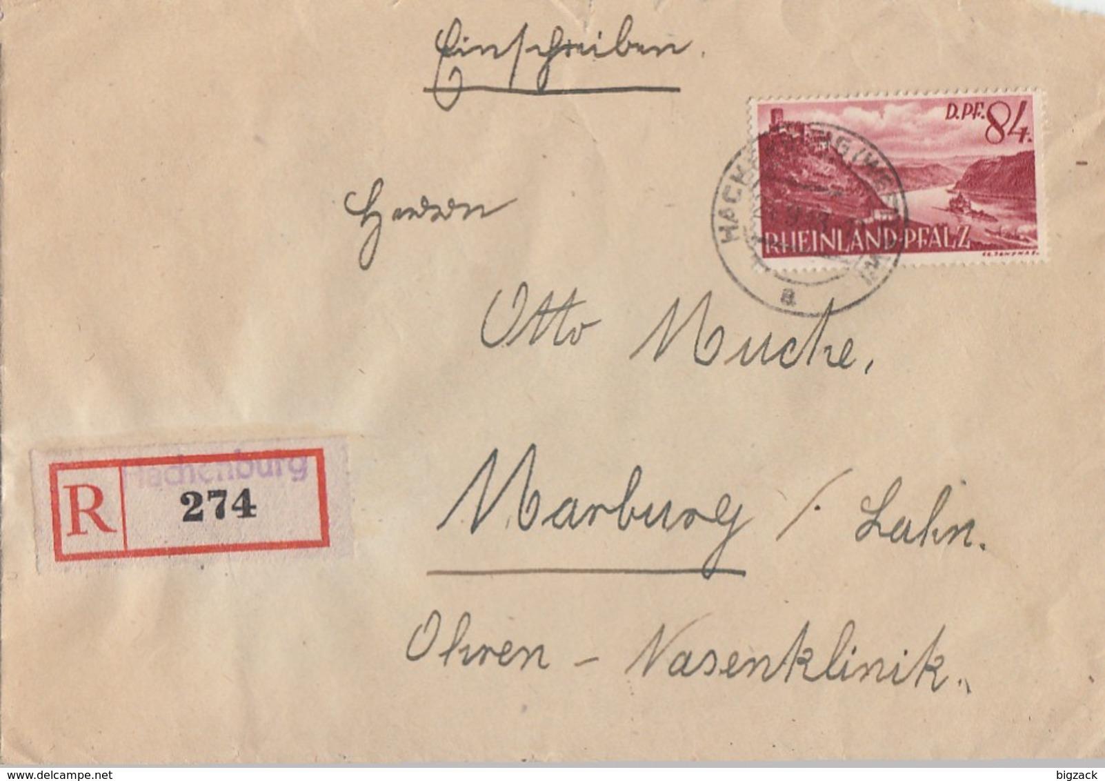 Fr. Zone Rhld.-Pf. R-Brief EF Minr.28 Hachenburg - Zona Francese