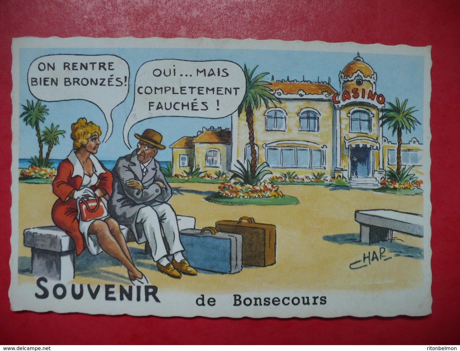 Bonsecours 76 Souvenir De Bonsecours Rouen Illustrateur CHAR - Bonsecours
