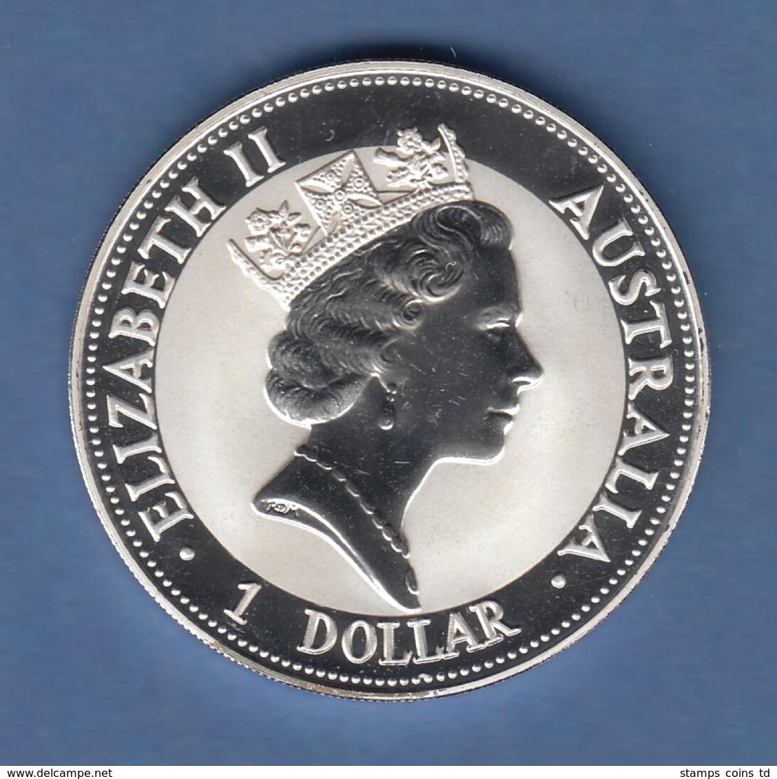 Australien 1992 Silber-Anlagemünze Kookaburra 1 Unze Ag999 - Monete