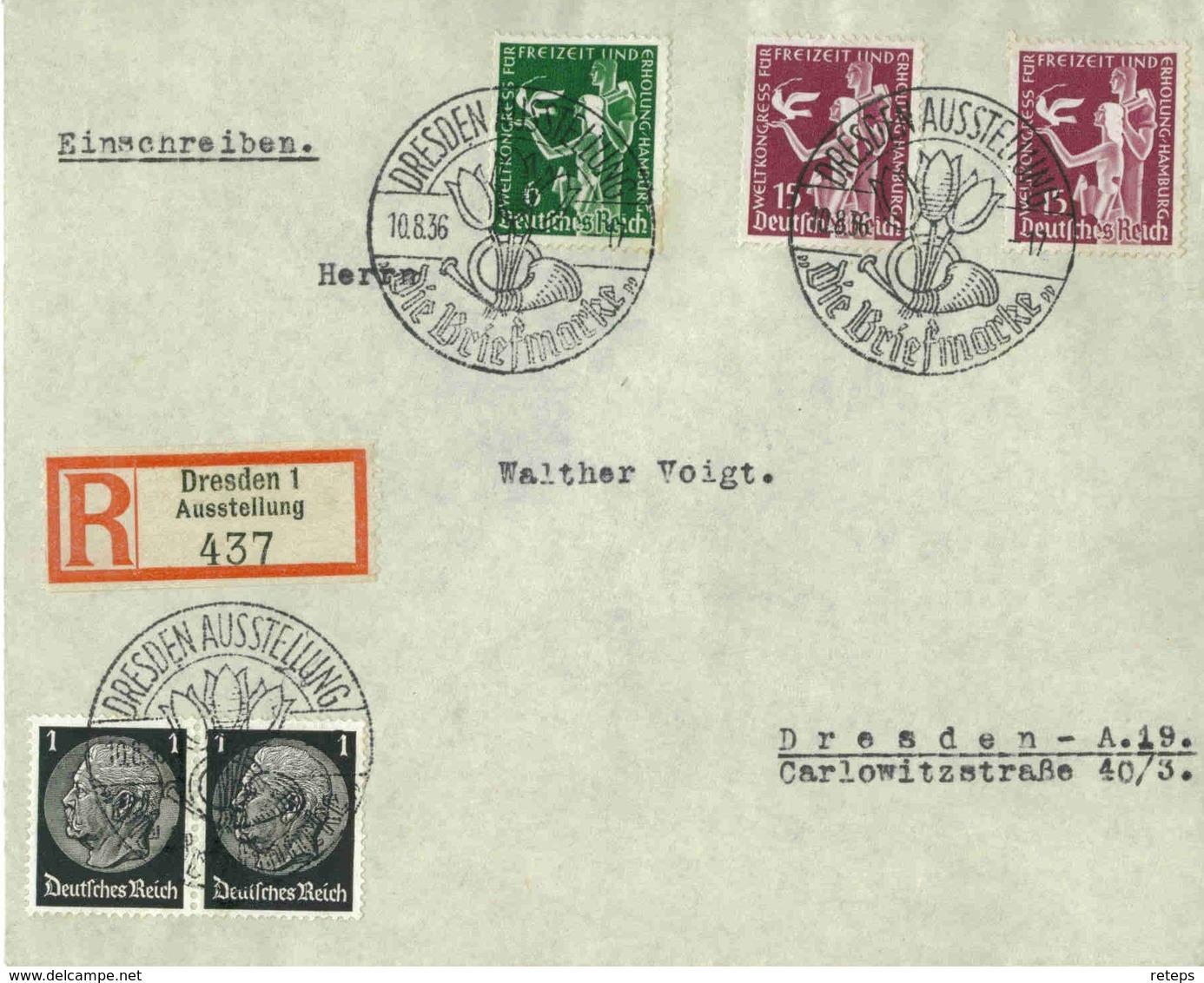 DR  Mi-Nr 622-623 /Freizeit-WeltKongreß,   Echt Gelaufener  Portogerecht-frankierter R-Brief - Briefe U. Dokumente