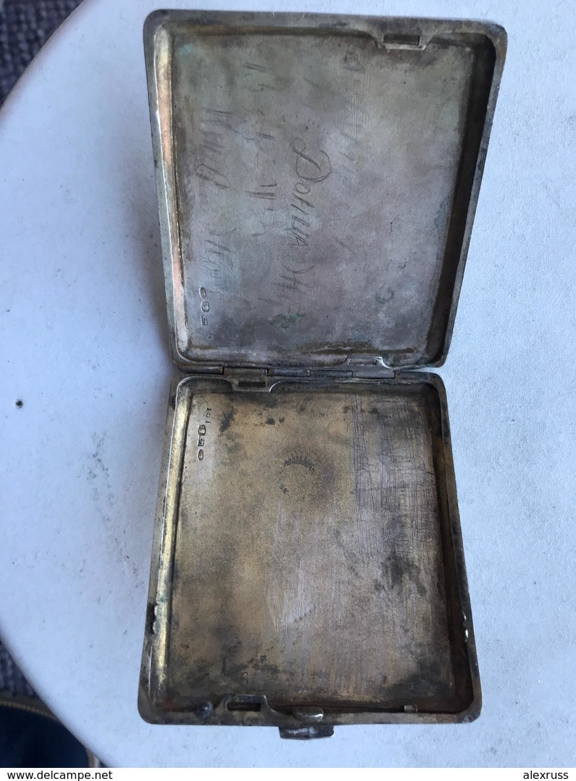 Russia Civil War1918, Silver Cigarette Case Awarded To An Officer Of White Kuban Army By Ataman A.Filimonov , RARE !! - Army & War