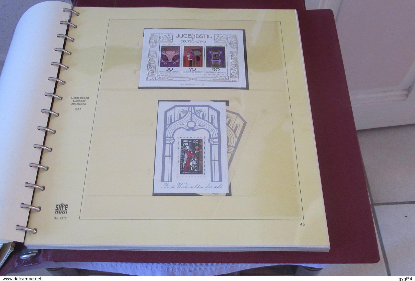 Allemagne Dans Un Album Safe 1976 - 1981 Neufs ** Et En Doubles Oblitérés  57 Scans - Timbres