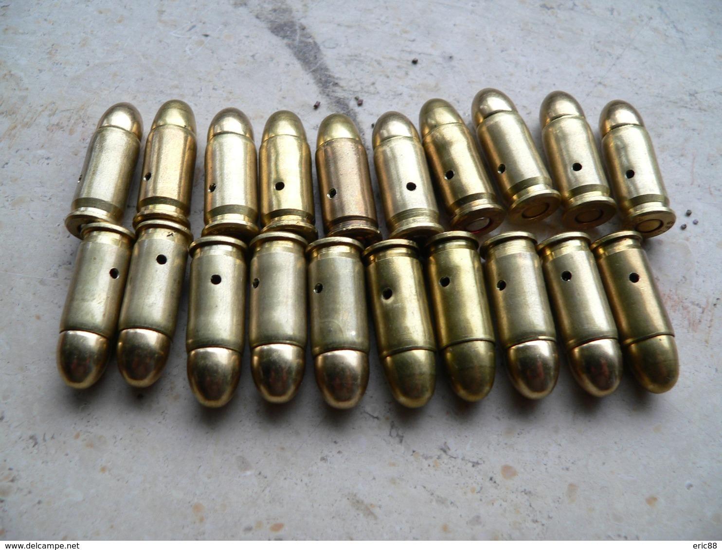 Lot De 20 Cartouches Calibre 7.65 Neutralisées - Armes Neutralisées