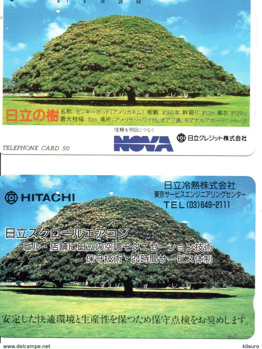 2 Télécartes Japon Japan Arbre Arbres Tree Forêt  Paysage (D 556) - Landschappen