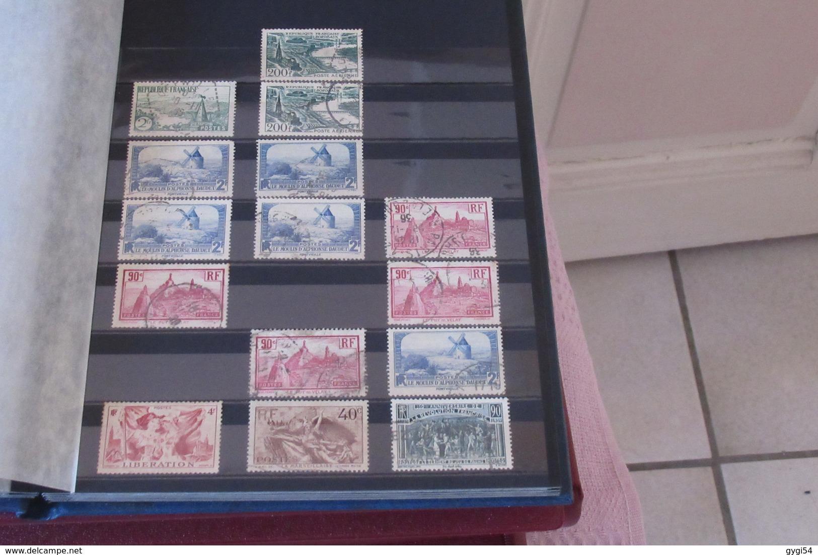 3  Classeurs   De Timbres Oblitérés Et Prêt à Poster Des Timbres Classiques  Aux Semi - Modernes Et Modernes 43 Scans - Stamps