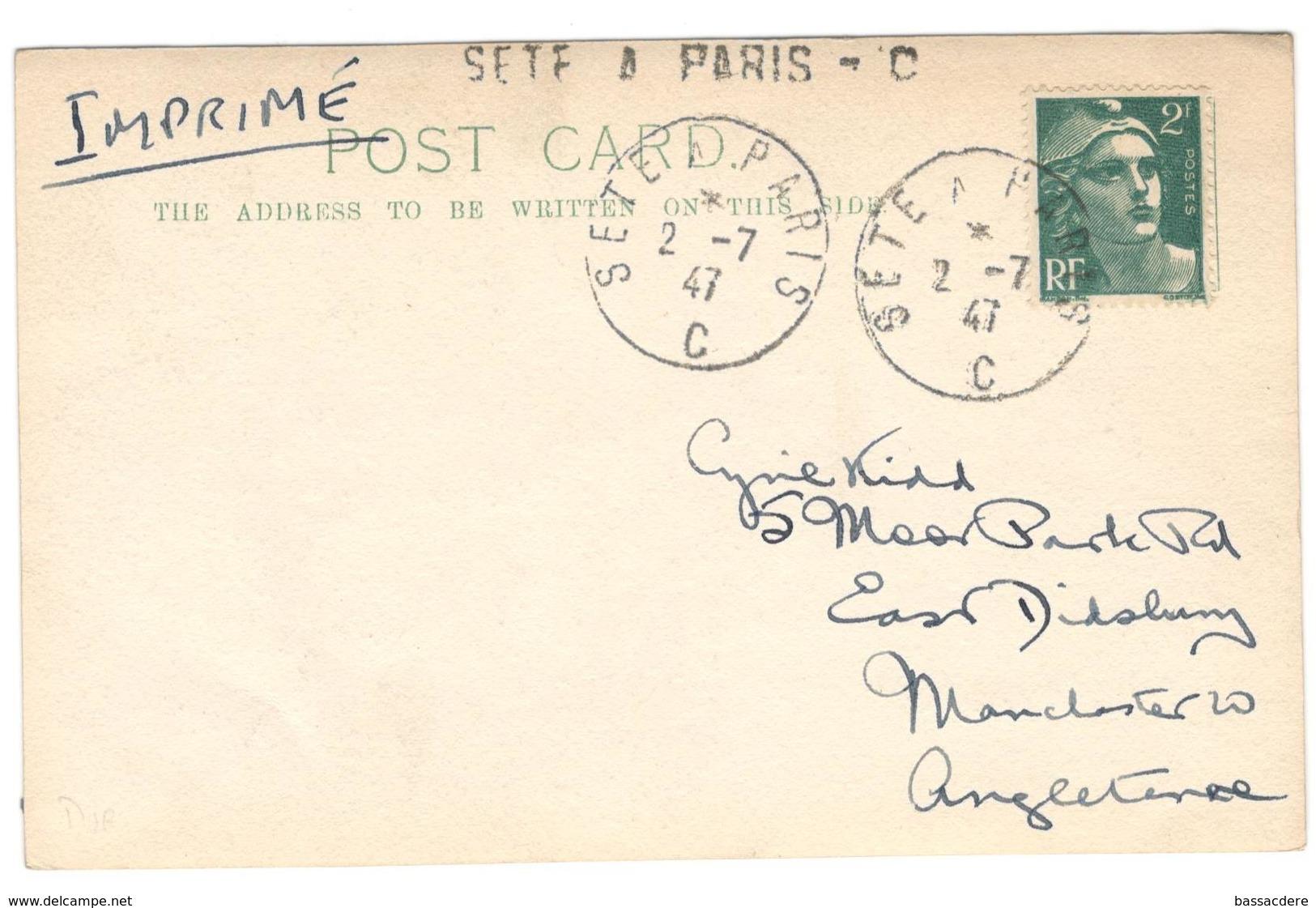 18320 - Ambulant SETE A PARIS C - Postmark Collection (Covers)