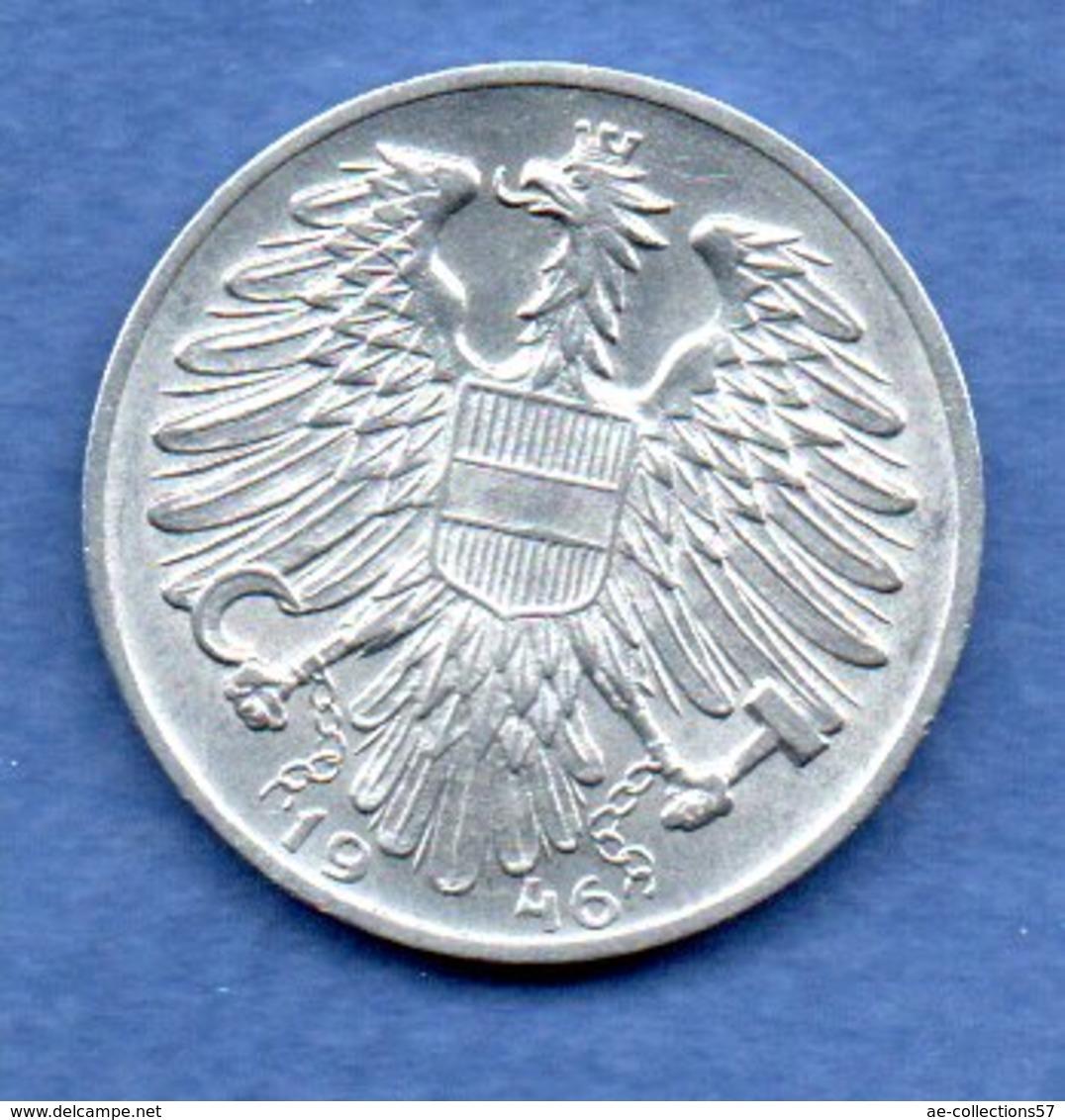 Autriche  - 1 Schilling 1946    -  Km # 2871  -  état  TTB+ - Autriche