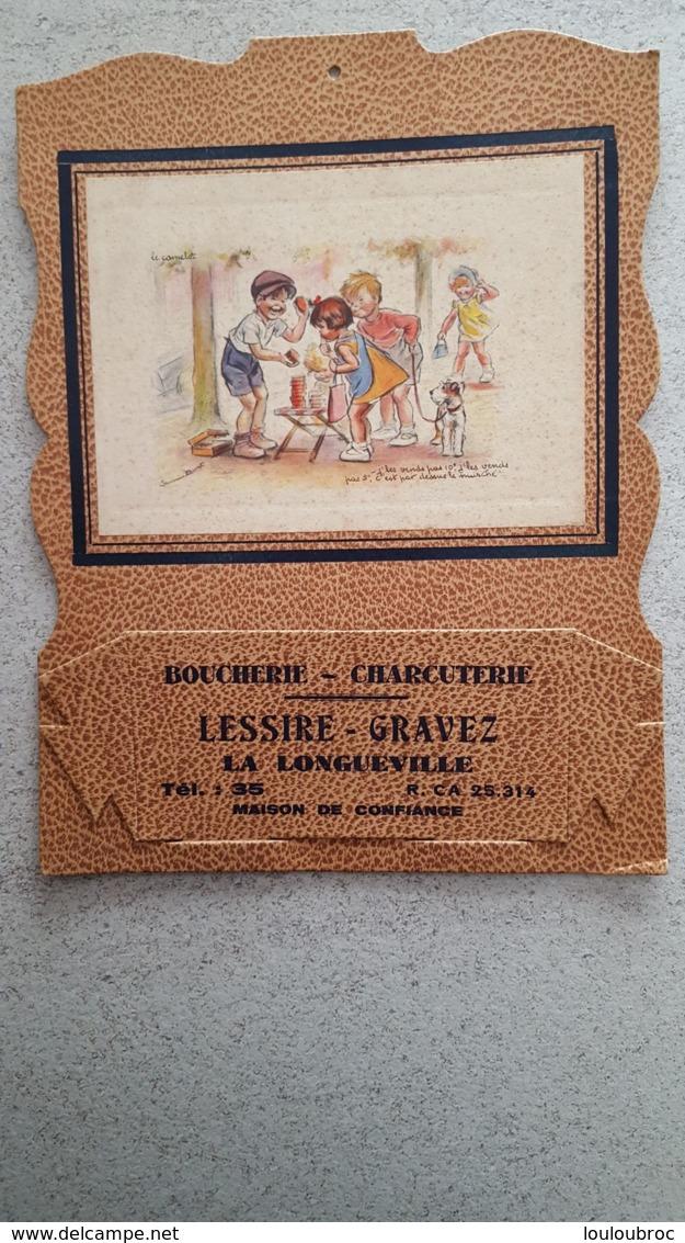 RARE PORTE COURRIER GERMAINE BOURET ETAT PARFAIT JAMAIS UTILISE CARTON FORT 29 X 22 CM BOUCHERIE DE LONGUEVILLE - Bouret, Germaine