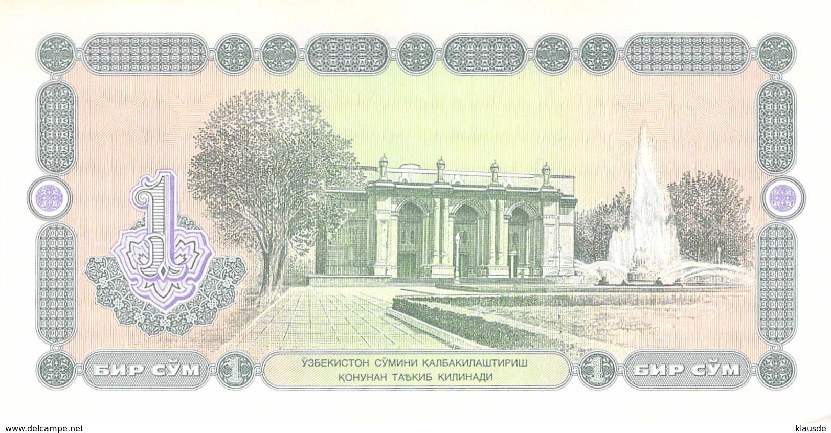 1 Som Usbekistan 1994 UNC - Usbekistan