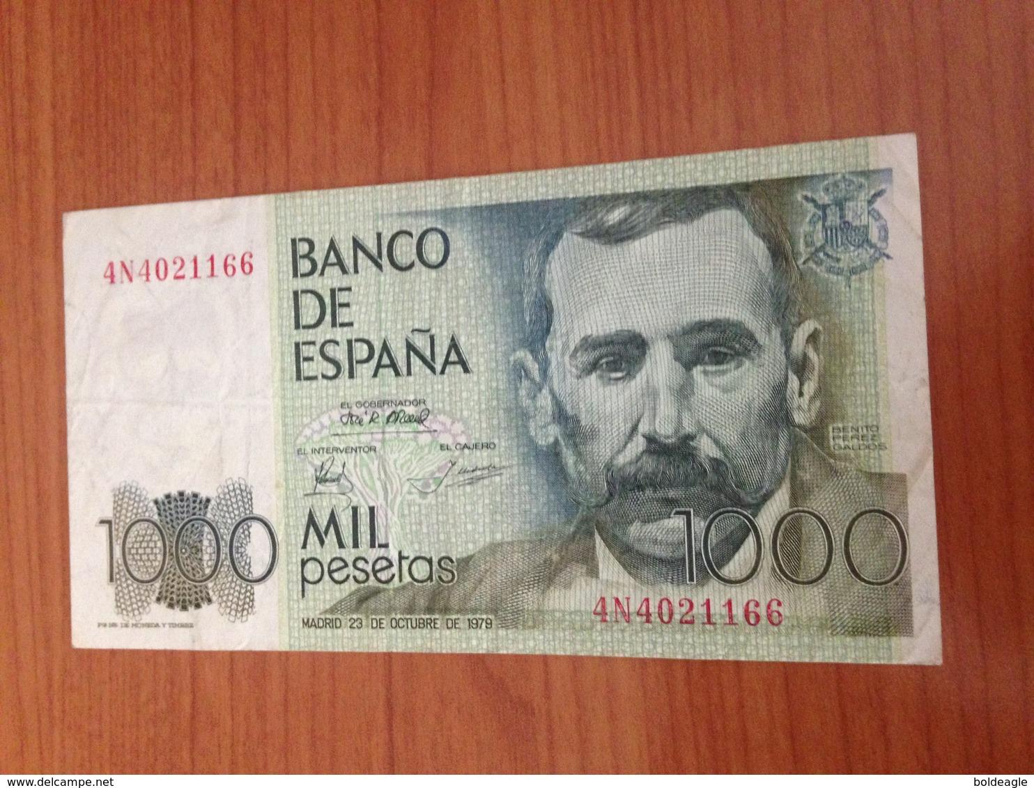 1000 Pesetas 1979- Tres Belle Etat  (port Offert ) - [ 4] 1975-… : Juan Carlos I