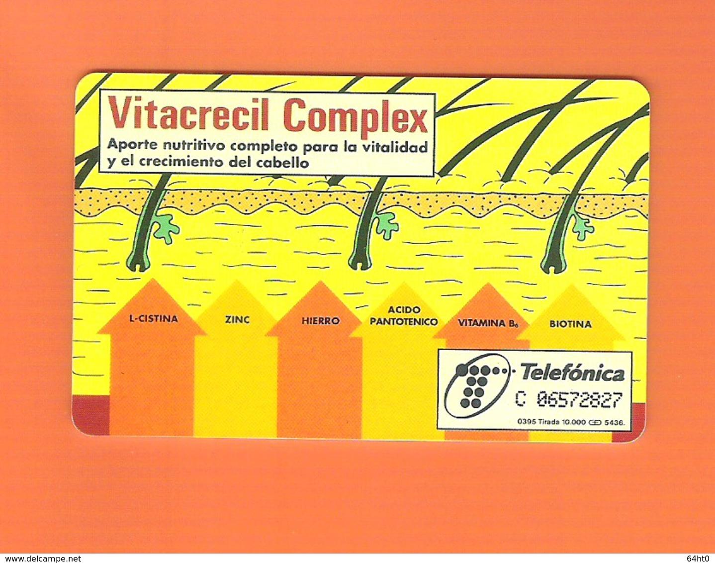 "CHIPCARD SPAIN P116  ""VITACRECIL -I""  03/95 - EX: 10000 - USED - Espagne"