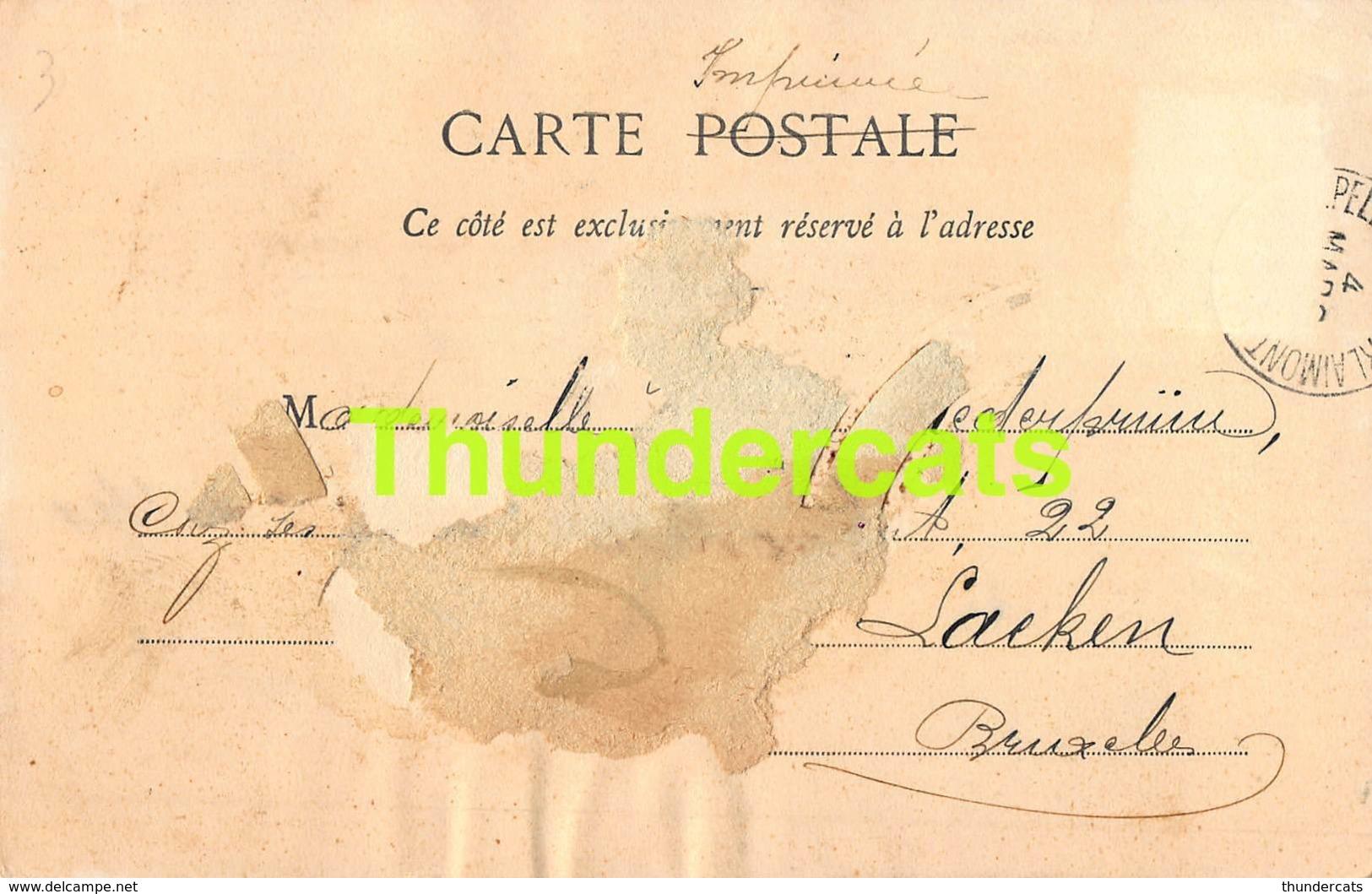 CPA ILLUSTRATEUR BERGERET LES 4 VALETS VALET DE TREFLE JEU DE CARTES HOROSCOPE - Cartes à Jouer