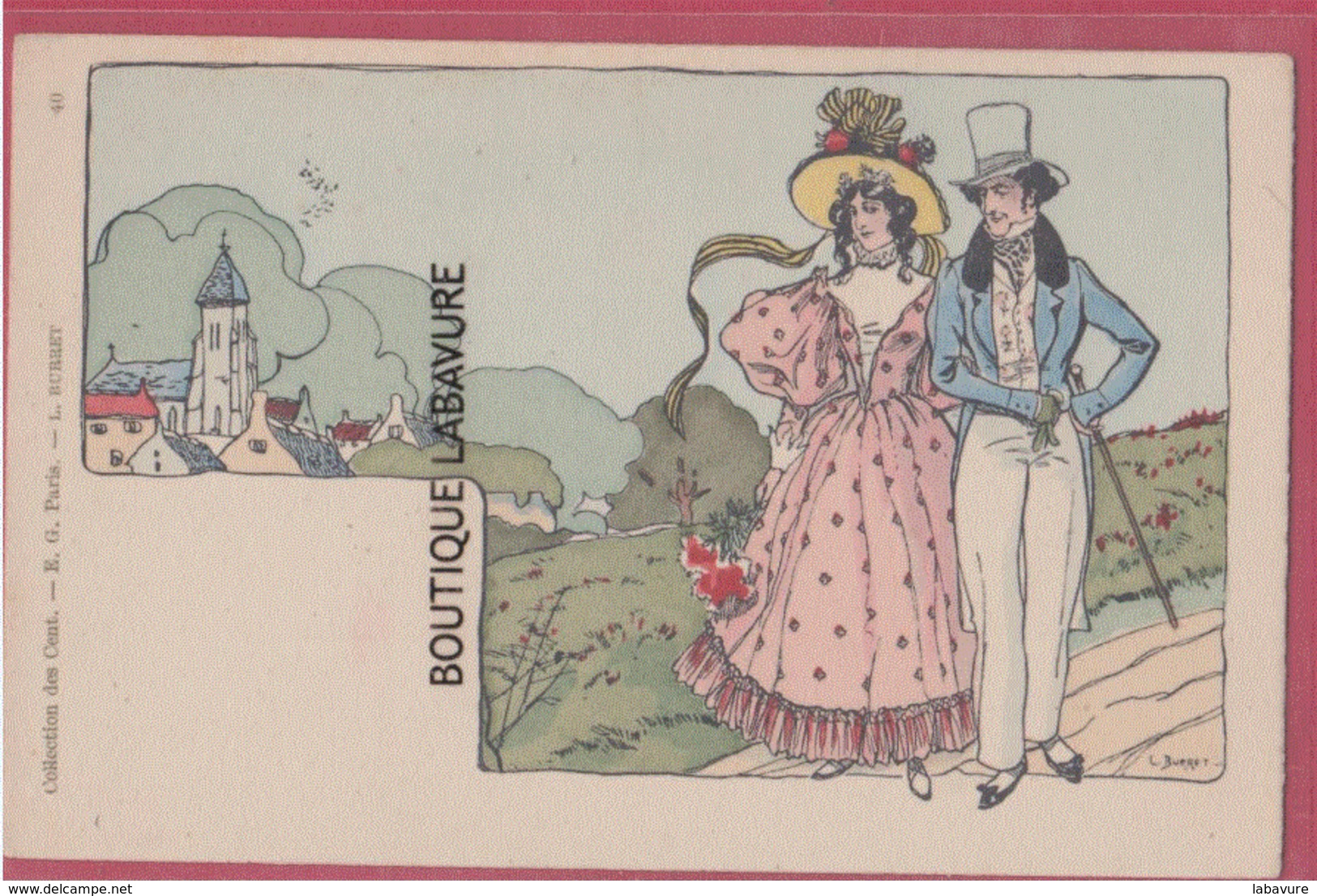 COLLECTION DES CENT--Illustrateur BURRET---N°40---précurseur - Illustrateurs & Photographes