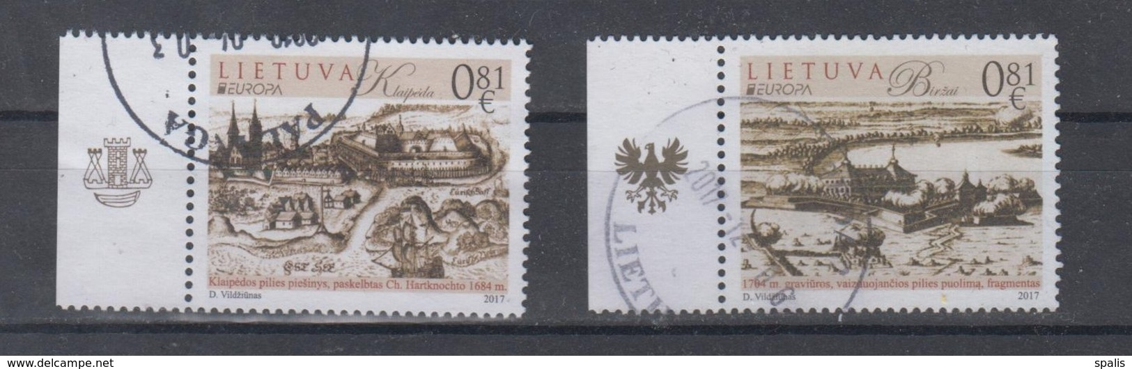 Lithuania 2017 Mi 1250-1 Used Europa,castles - Lithuania