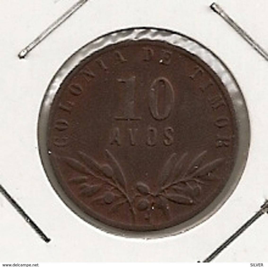 TIMOR 10 AVOS 1945 TRES RARE DANS CETTE ETAT - Timor