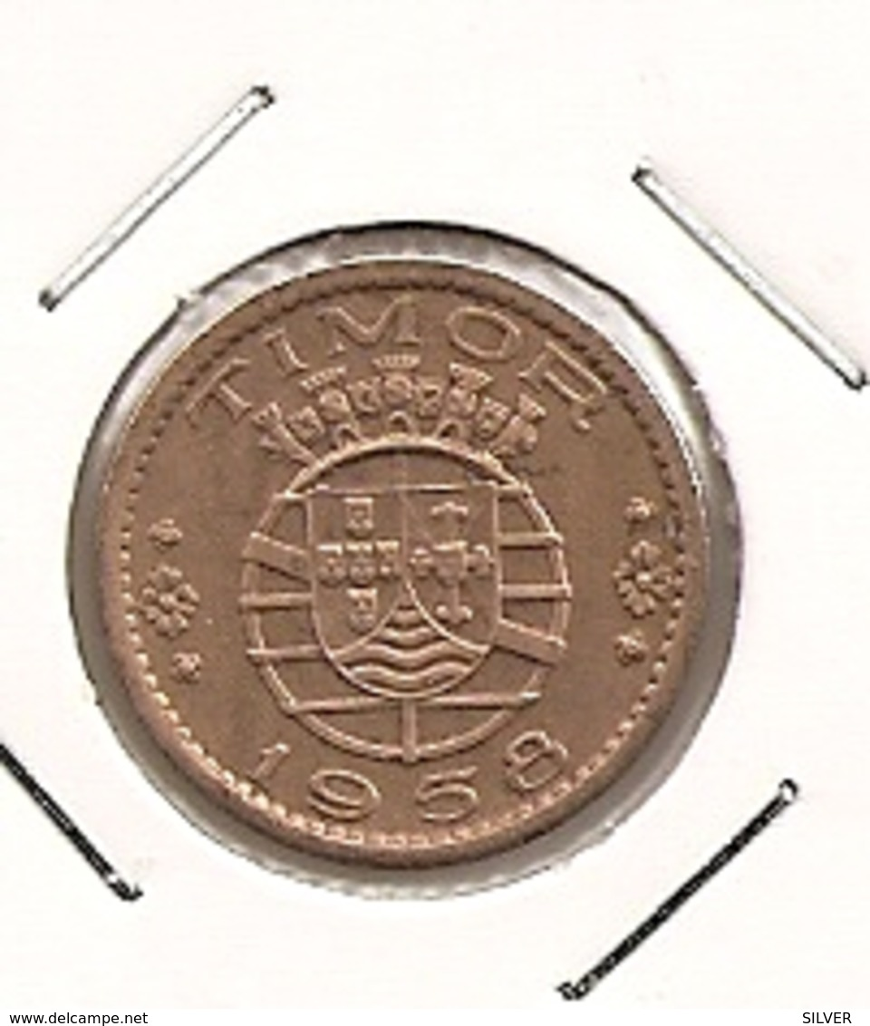 TIMOR 10 CENTAVOS 1958 RARE - Timor