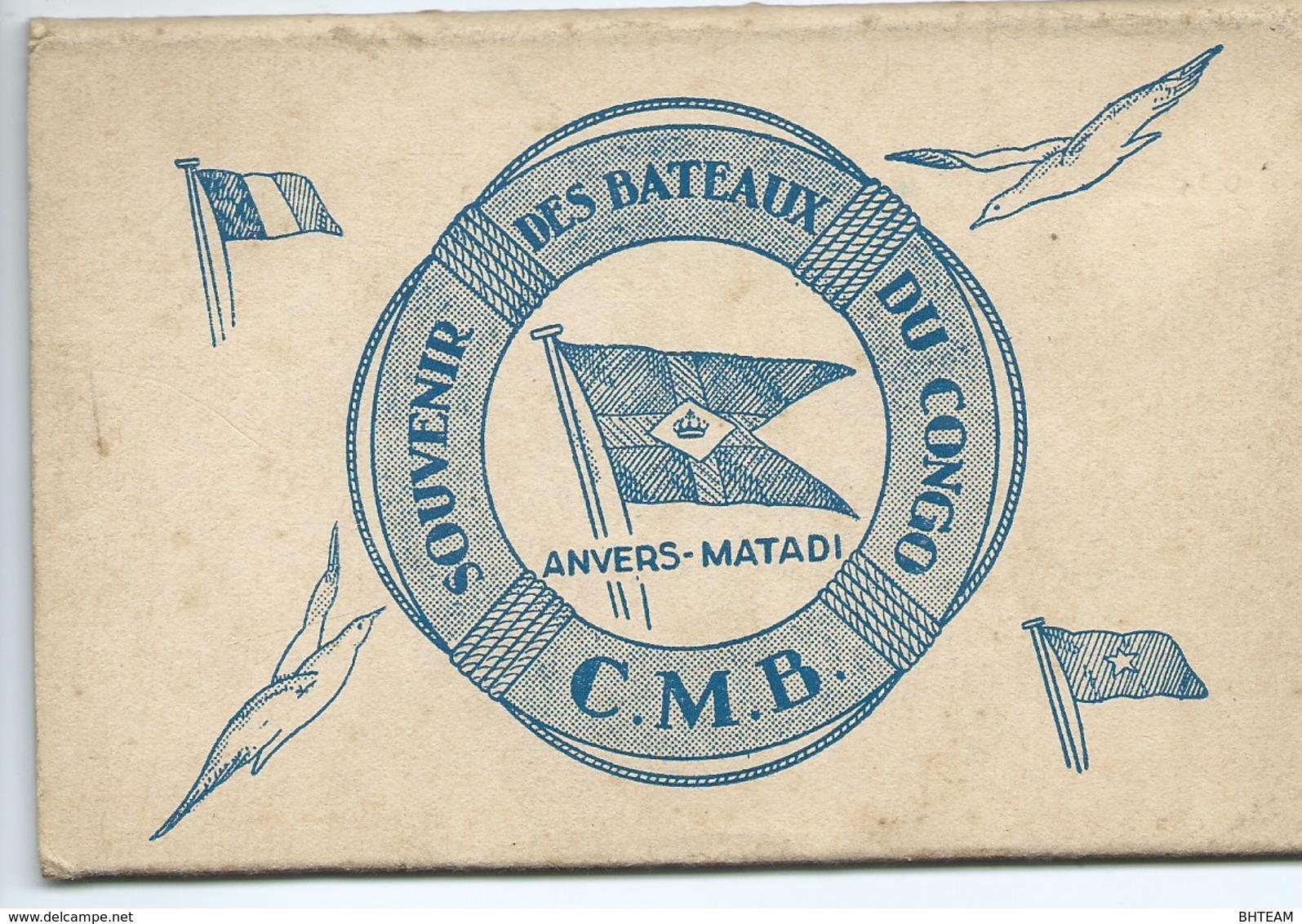« Souvenir Des Bateaux Du CONGO - C.M.B.- ANVERS-MATADI » Carnet De  7 Cartes Uniquement - Belgian Congo - Other
