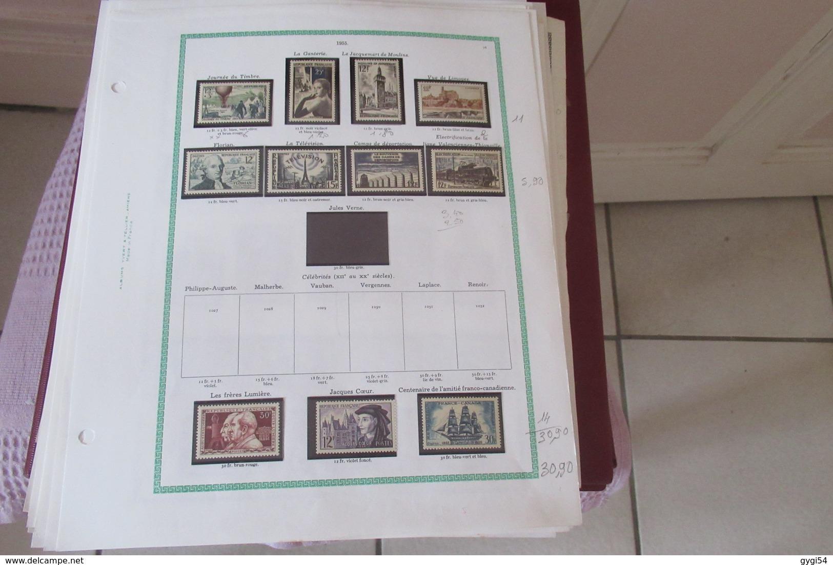 FRANCE Dans   Son Album Yt Collection  1862 - 1963 Service Préos Taxe   87 Scans Cote 2800 E - Timbres