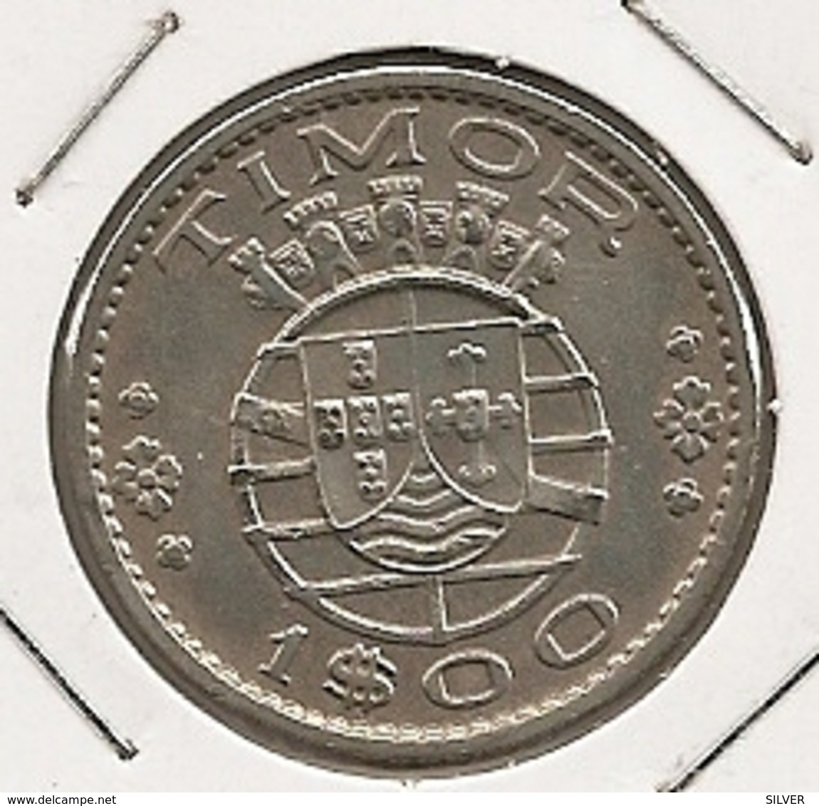 TIMOR 1 ESCUDO 1958 DIFICILLE - Timor