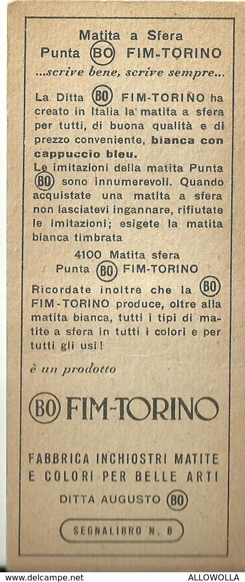 """4179 """"SEGNALIBRO BO FIM - TORINO-N° 8 GULLIVER A LILLIPUT"""" - Segnalibri"""