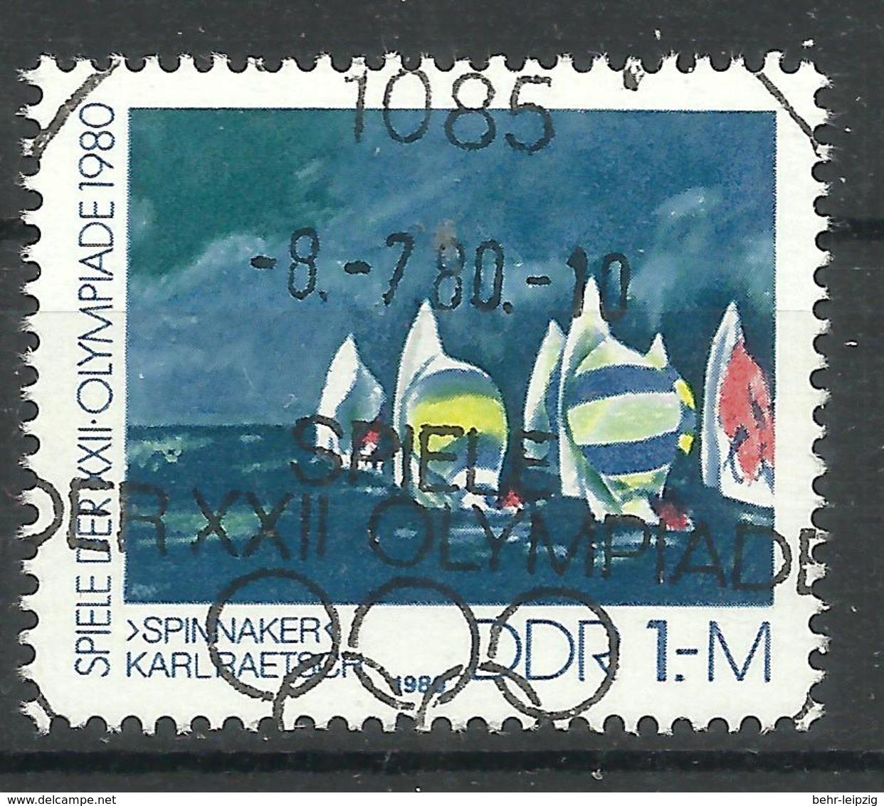 """DDR 2531 Marke Aus Block 60.""""Olympische Sommerspiele Moskau."""" Sonderstpl.Mi.-Preis 1,80 ; - [6] Democratic Republic"""