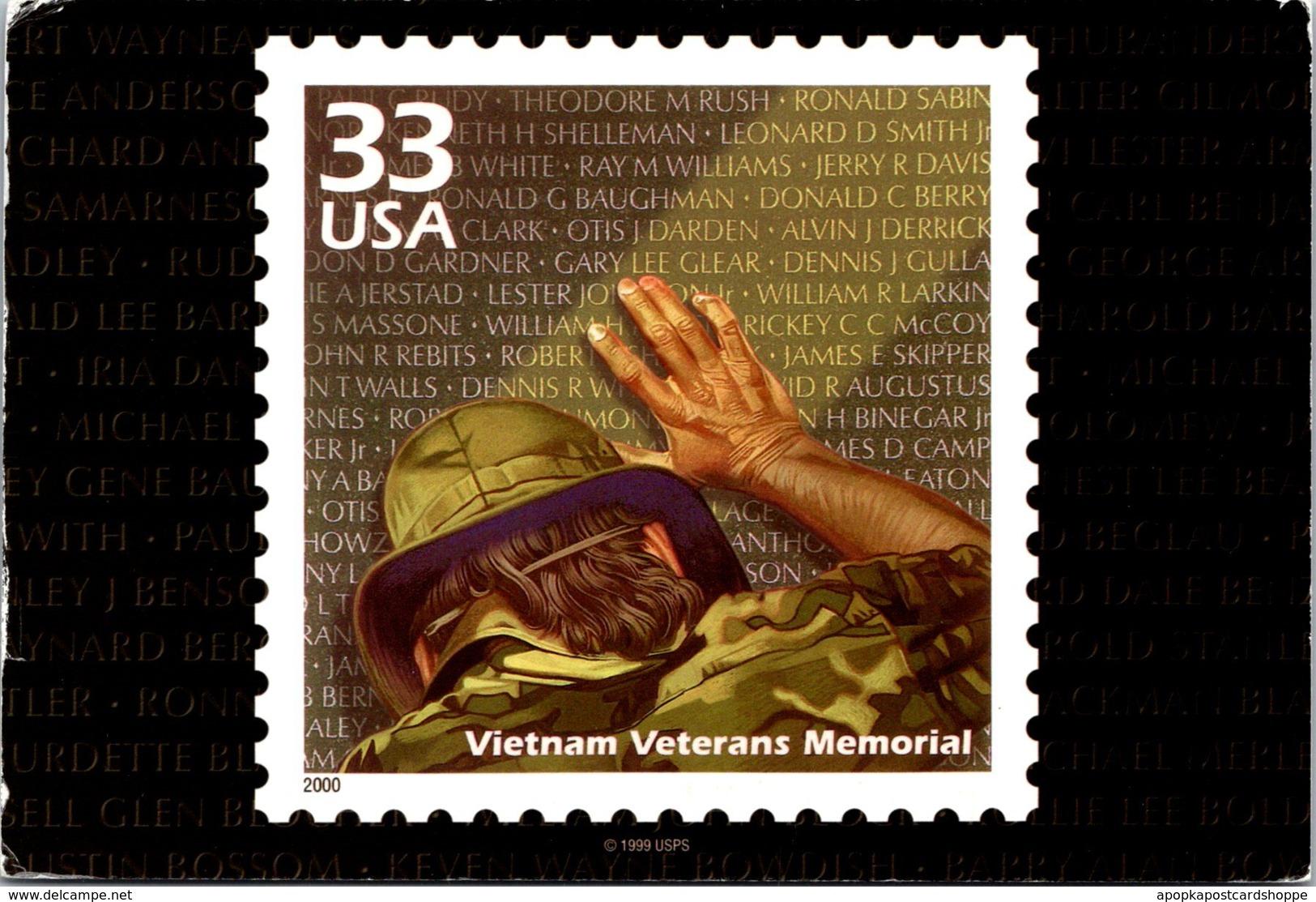 Stamps On Postcards Vietnam Veterans Memorial 2005 - Stamps (pictures)