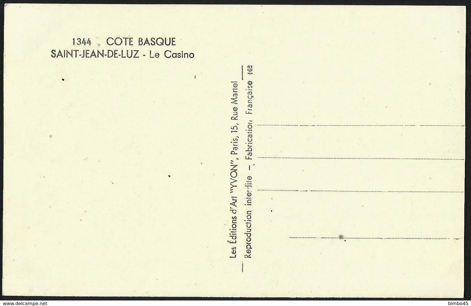 CPA--FRANCE--COTE BASQUE--SAINT JEAN DE LUZ---Le Casino--LA PLAGE - Saint Jean De Luz