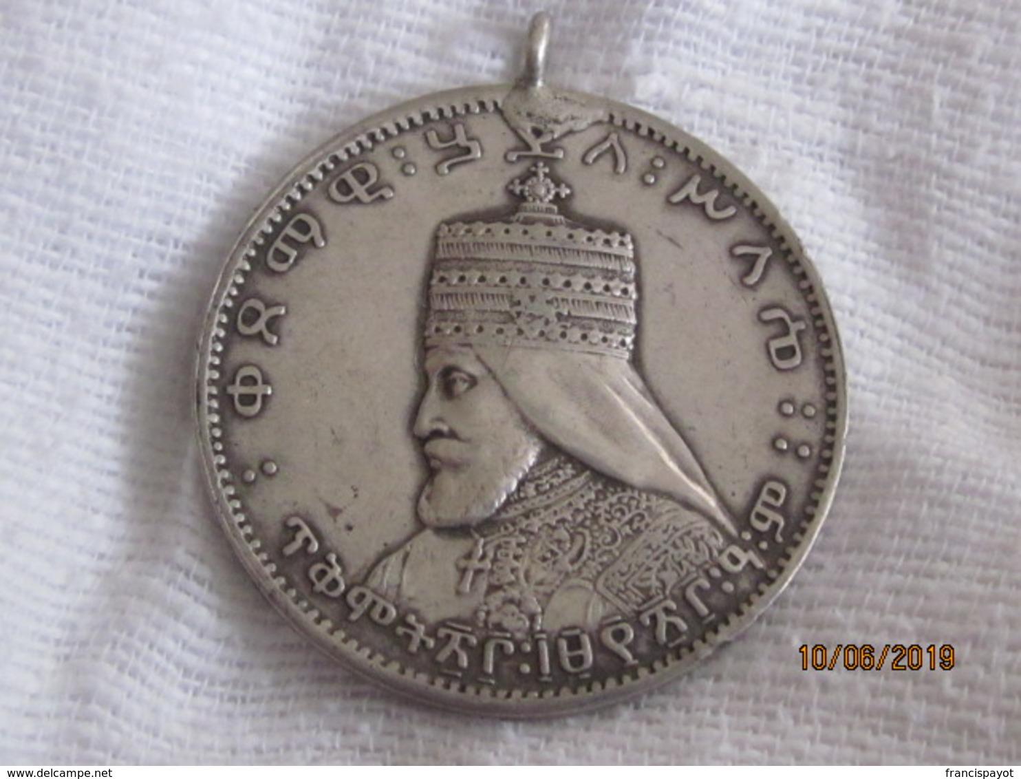 Haile Selassie Coronation Medal (40 Mm) Silver - Non Classés
